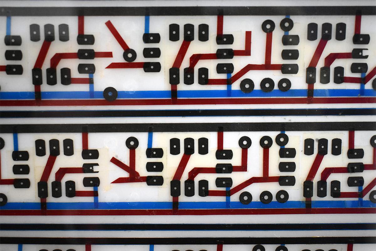 Closeup of DDL 1745 Circuit Board Artwork