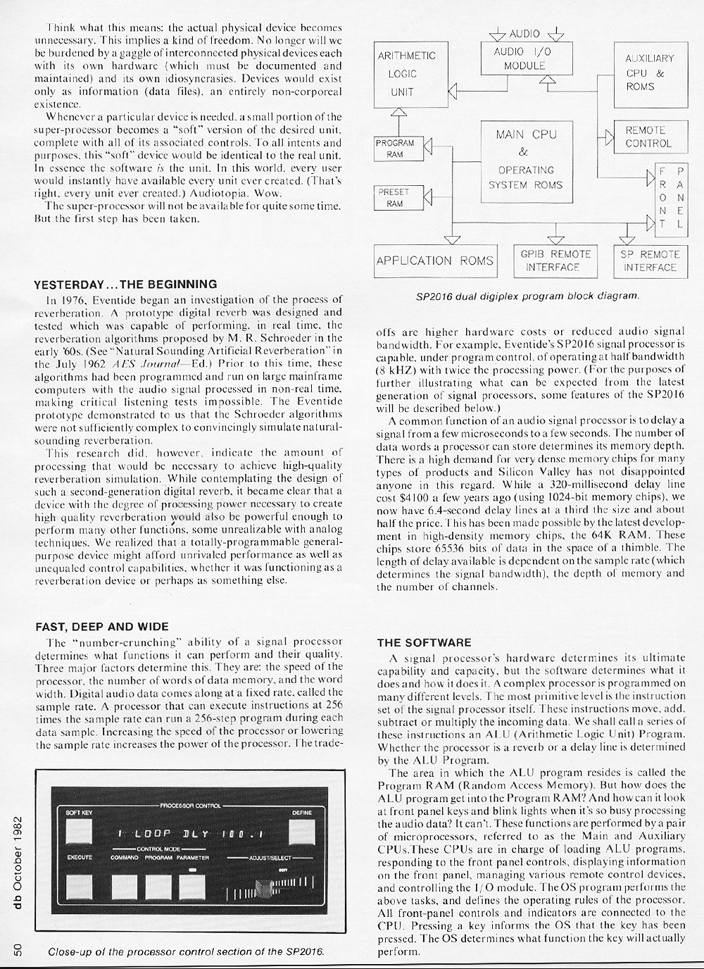 DB Magazine — Digital Audio Processing, October 1982, Page 3