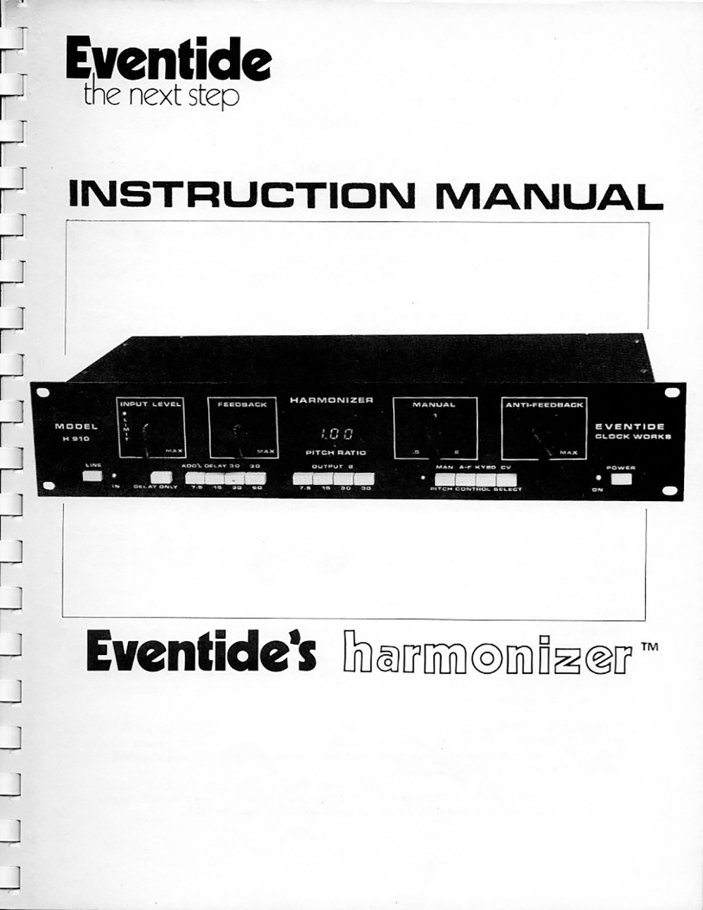 H910 Manual Cover