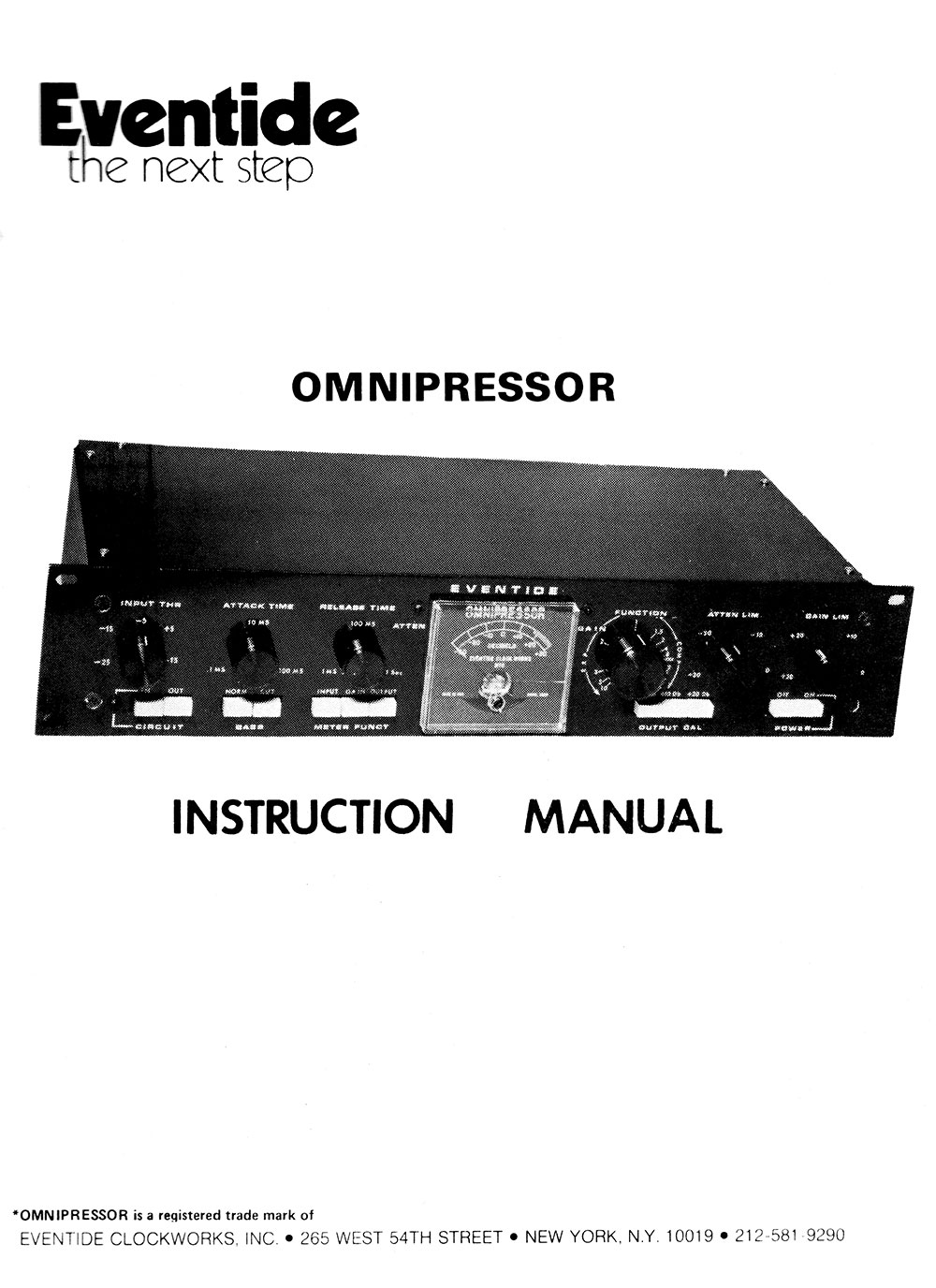 Omnipressor Instruction Manual Cover