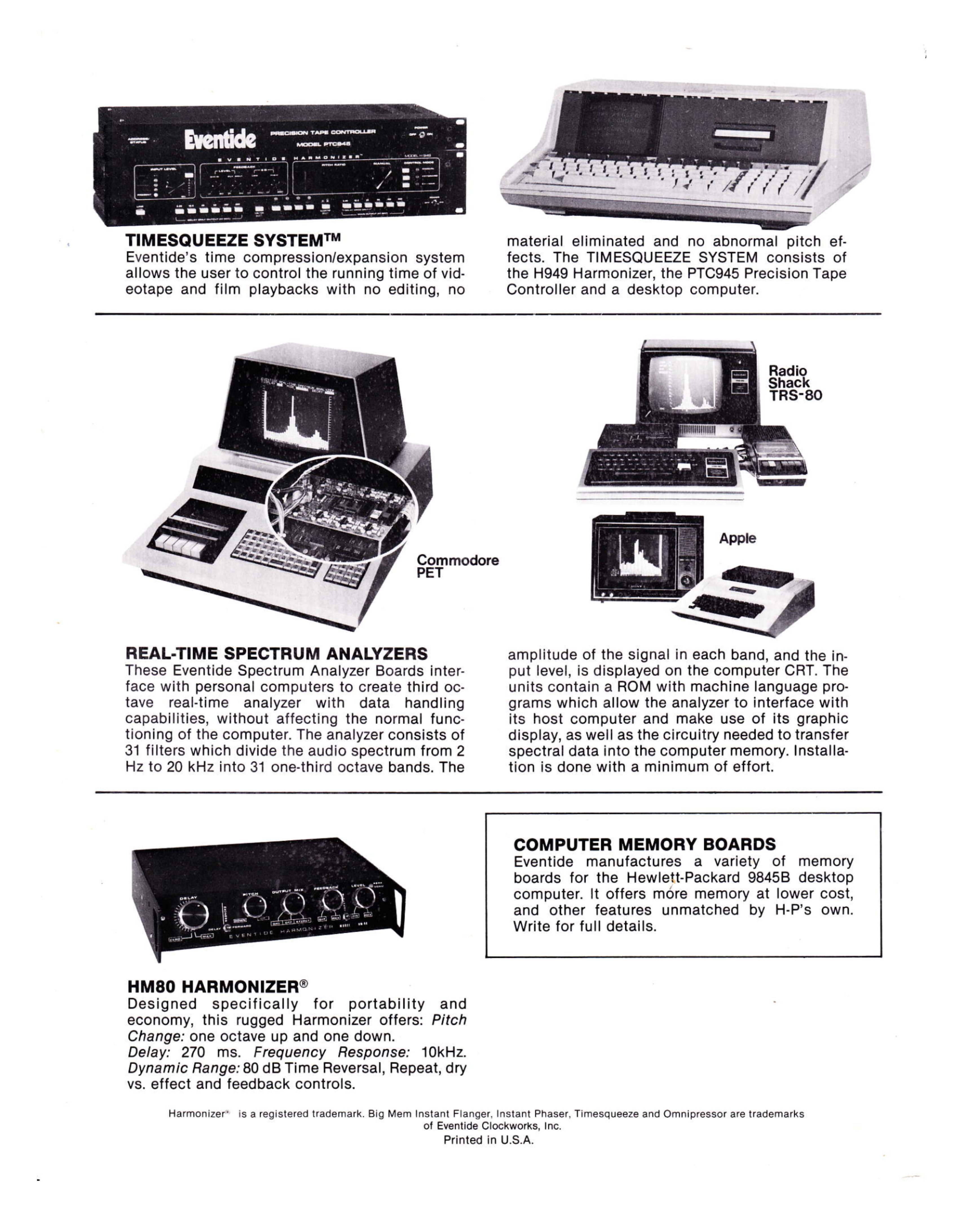 Ad for Eventide Products