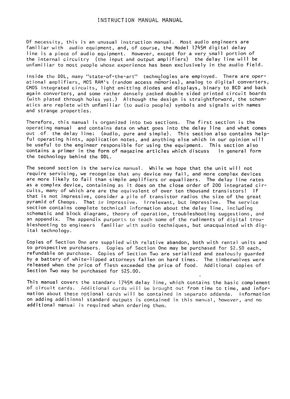 DDL 1745 Manual