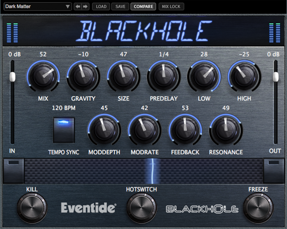 Blackhole plugin for aax, vst and au. Eventide reverb