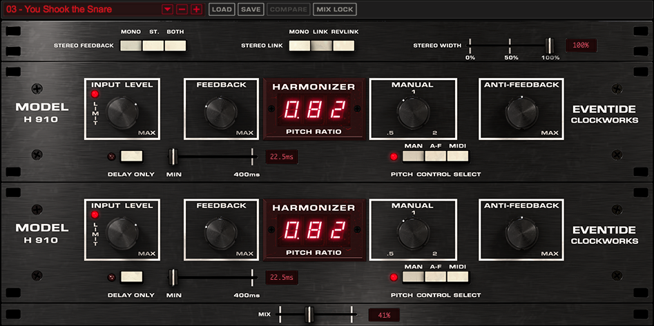 Eventide H910 DUAL Harmonizer Plugin World's First Studio FX Processor