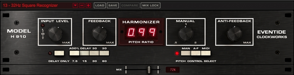 Eventide H910 Harmonizer Plugin World's First Studio FX Processor