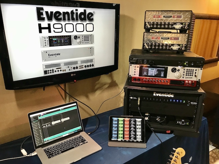 Eventide H9000 running 4CM in a stereo Mesa/Boogie guitar rig